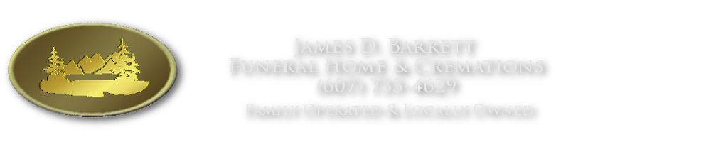 James D. Barrett Funeral Home and Cremations logo phone 607 733 4629